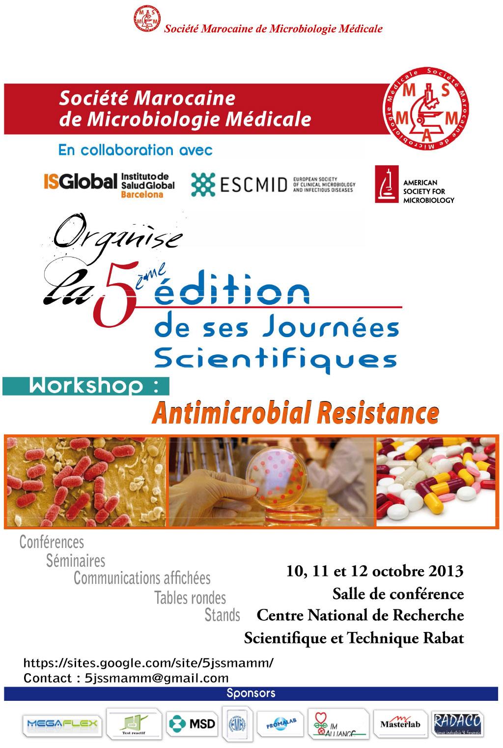 5èmes Journées scientifiques 2013