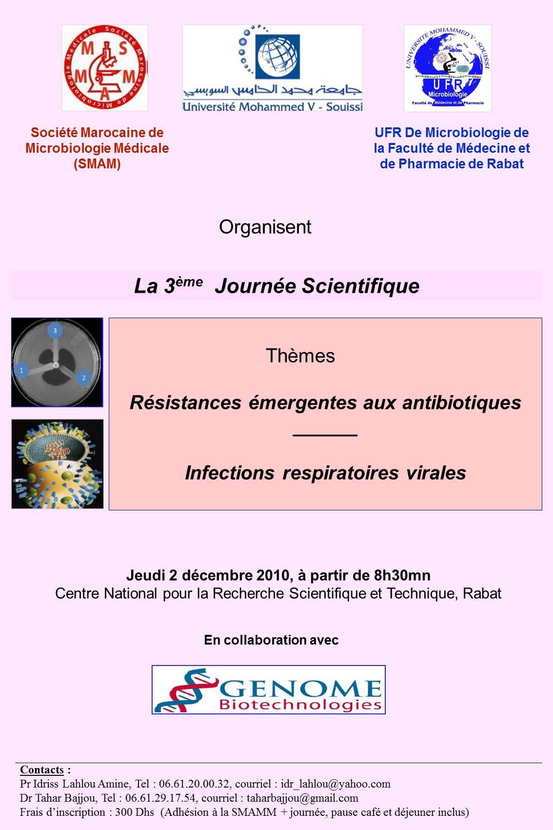 3ème Journée scientifique 2010