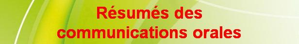 Résumés de communications orales