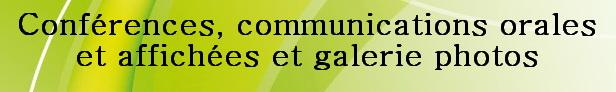 Résumés de communications orales et affichées